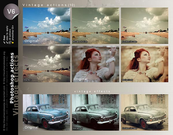Photoshop actions vintage effects by lieveheersbeestje d4wd7m7