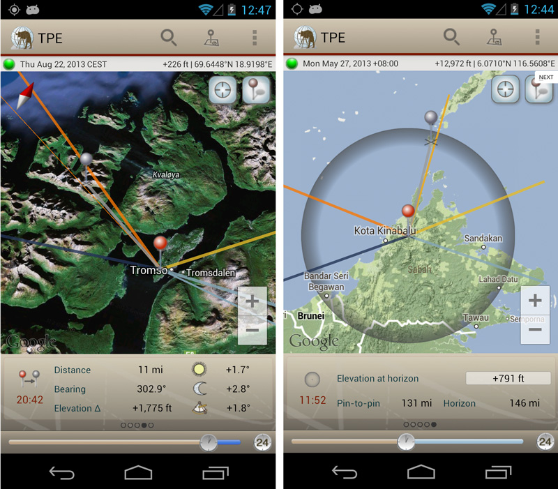 App fotografer landscape photographers ephemeris